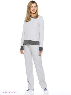 Спортивный костюм Олимпия Runika. Цвет: серый, серый меланж
