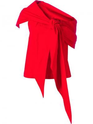 Блузка с бантом Isa Arfen. Цвет: красный