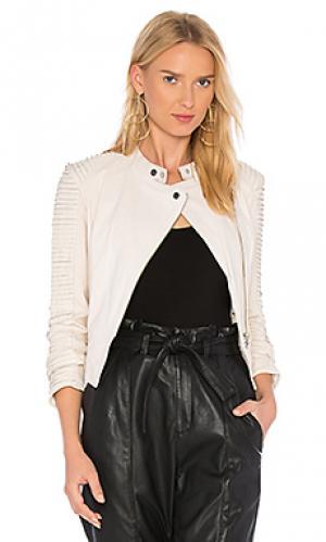 Кожаная куртка paige LAMARQUE. Цвет: кремовый
