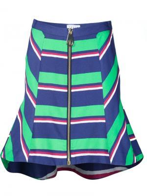 Striped high waisted skirt Tanya Taylor. Цвет: зелёный