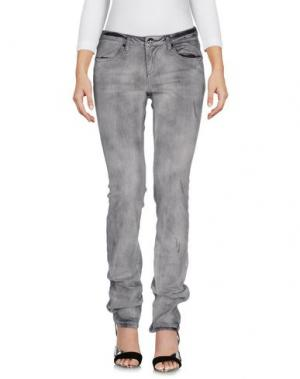 Джинсовые брюки PARIS HILTON. Цвет: серый