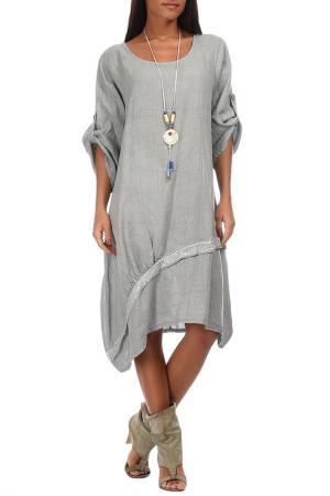 Платье Couleur lin. Цвет: серый