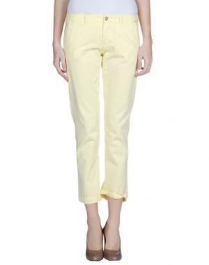Повседневные брюки MONOCROM. Цвет: светло-желтый