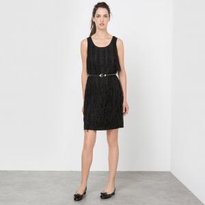 Платье прямое без рукаавов MOLLY BRACKEN. Цвет: черный