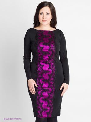 Платье VERDA. Цвет: черный, фуксия