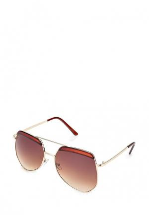 Очки солнцезащитные Kawaii Factory. Цвет: коричневый