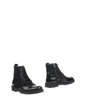 Полусапоги и высокие ботинки VIA DEI CALZAIUOLI. Цвет: черный