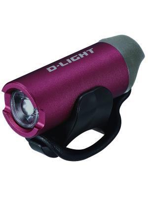 Передний фонарь с зарядкой от USB D-light. Цвет: темно-бордовый