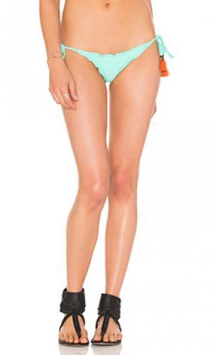 Плавки бикини с завязками по бокам Vix Swimwear. Цвет: мята