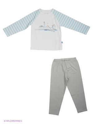 Пижама Ritta Romani. Цвет: белый, голубой, серый