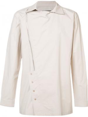 Рубашка с асимметричной молнией D.Gnak. Цвет: телесный