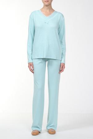 Пижама с брюками Relax Mode. Цвет: ментоловый