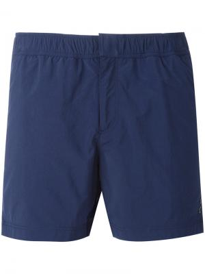 Пляжные шорты с люверсами Ron Dorff. Цвет: синий