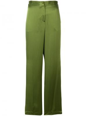 Широкие брюки Equipment. Цвет: зелёный