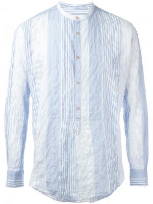 Рубашка с эффектом помятости The Gigi. Цвет: синий