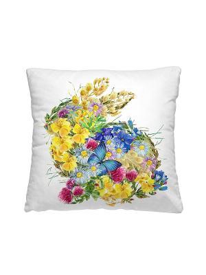Подушка-думка, цветочный заяц Волшебная ночь. Цвет: белый
