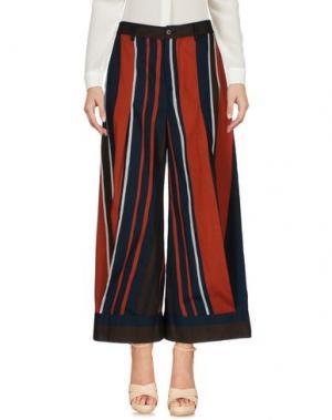 Повседневные брюки VIRNA DRÒ®. Цвет: кирпично-красный