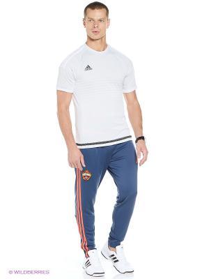 Брюки Cska Trg Pnt adidas. Цвет: индиго, оранжевый