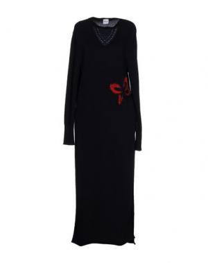 Длинное платье AKEP. Цвет: темно-синий