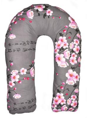 Подушка для беременных Здоровье и комфорт. Цвет: серо-коричневый, розовый
