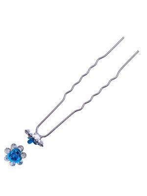 Заколка-шпилька для волос 20 шт (длина 6см.) City Flash. Цвет: серебристый,белый,голубой
