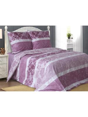 Комплект постельного белья 1,5-спальный Блакiт. Цвет: лиловый, белый