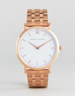 Larsson & Jennings Золотисто-розовые часы LGN40 Vasa. Цвет: золотой