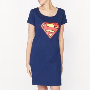 Сорочка ночная хлопковая Superman. Цвет: синий морской
