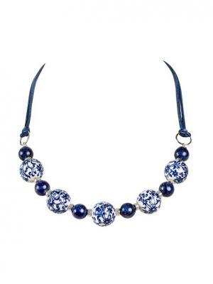 Ожерелье Калинка Ож1215 TIALIS. Цвет: синий