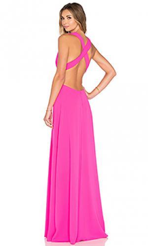 Вечернее платье с глубоким v-образным вырезом JILL STUART. Цвет: розовый