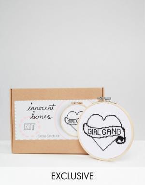 Innocent Bones Набор для вышивания крестиком Girl Gang. Цвет: мульти