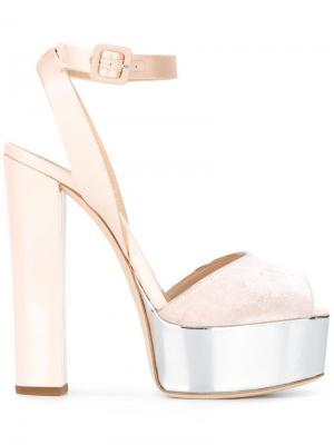 Босоножки Amelia Giuseppe Zanotti Design. Цвет: розовый и фиолетовый