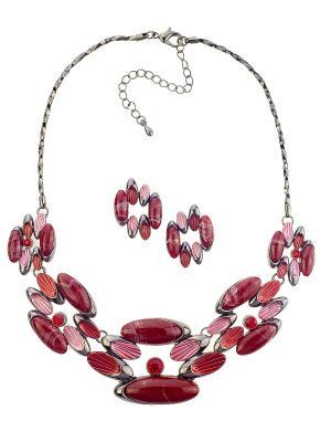 Колье Bijoux Land. Цвет: бордовый, красный, антрацитовый