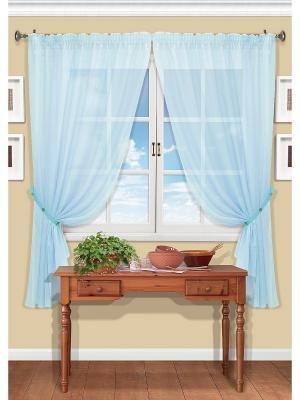 Комплект штор Arina-S Kauffort. Цвет: голубой