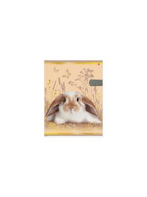 Дневник д/ст.кл.с магнитным хлястиком, милый кролик Альт. Цвет: персиковый