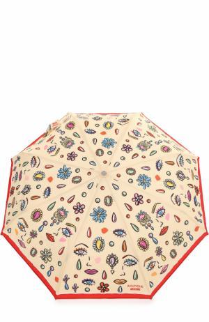 Складной зонт Moschino. Цвет: кремовый