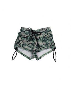 Повседневные шорты F**K PROJECT. Цвет: зеленый-милитари