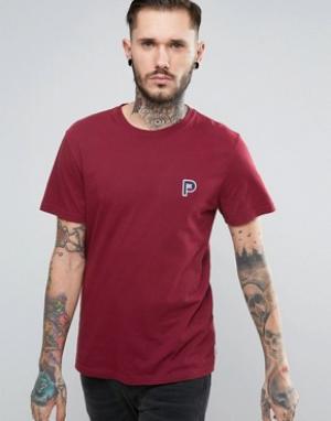 Penfield Красная футболка с маленьким логотипом Perris. Цвет: красный