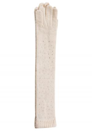 Перчатки Mellizos. Цвет: белый