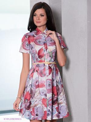 Платье Verezo. Цвет: розовый, сиреневый, красный