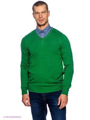 Пуловер F5. Цвет: зеленый