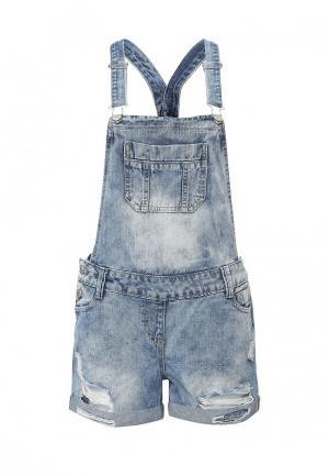 Комбинезон джинсовый Lucid. Цвет: синий