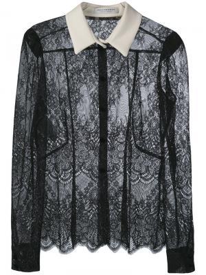 Кружевная блузка с контрастным воротником Philosophy Di Lorenzo Serafini. Цвет: чёрный