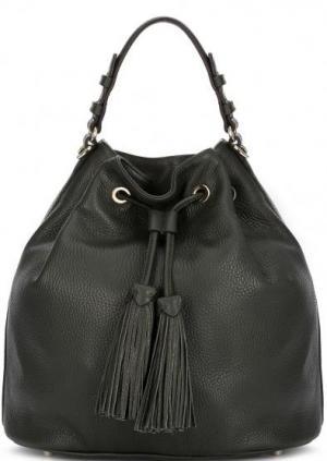 Кожаная сумка с короткой ручкой Abro. Цвет: хаки