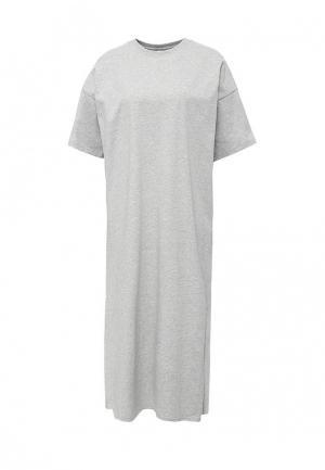 Платье PUMA. Цвет: серый