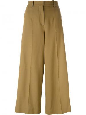 Укороченные широкие брюки Barbara Casasola. Цвет: коричневый