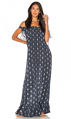 Макси платье etta Indah. Цвет: синий