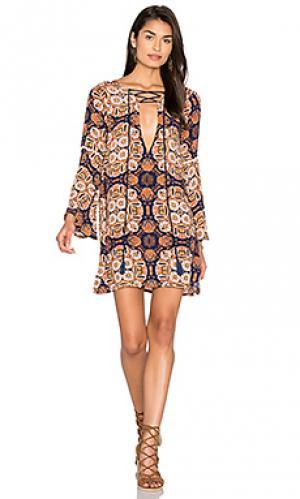 Короткое платье kyln Cleobella. Цвет: синий