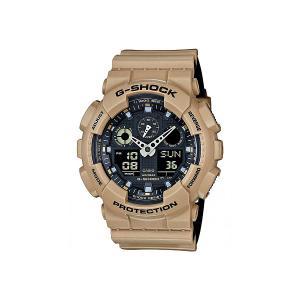 Электронные часы  G-shock Ga-100l-8a Casio. Цвет: коричневый,бежевый