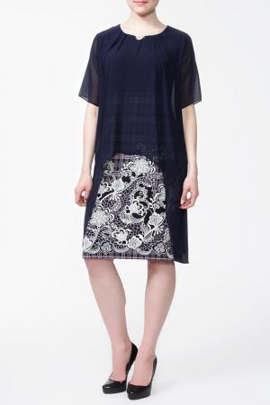 Платье First Orme. Цвет: синий, белый